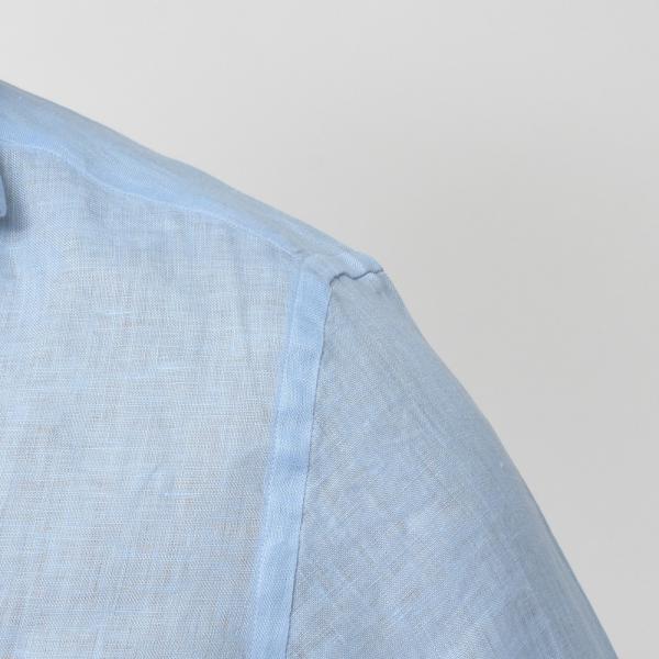【SALE30】Giannetto(ジャンネット)リネンソリッドフラワーコンビセミワイドカラーシャツ VINCI FIT/AG8333PV81 11091011109◇◇|guji|14