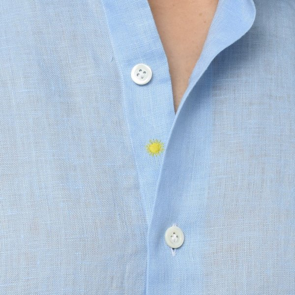 【SALE30】Giannetto(ジャンネット)リネンソリッドフラワーコンビセミワイドカラーシャツ VINCI FIT/AG8333PV81 11091011109◇◇|guji|15