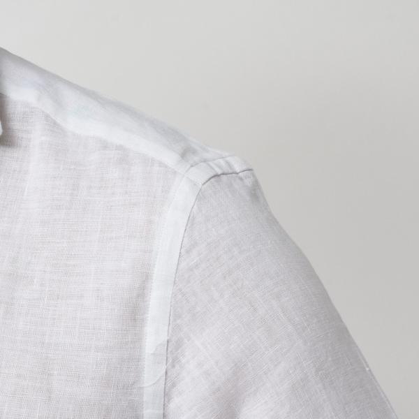 【SALE30】Giannetto(ジャンネット)リネンソリッドフラワーコンビセミワイドカラーシャツ VINCI FIT/AG8333PV81 11091011109◇◇|guji|06