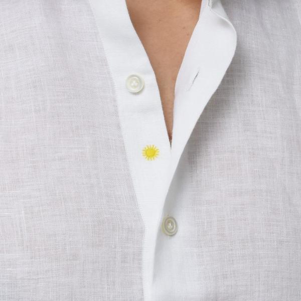 【SALE30】Giannetto(ジャンネット)リネンソリッドフラワーコンビセミワイドカラーシャツ VINCI FIT/AG8333PV81 11091011109◇◇|guji|07