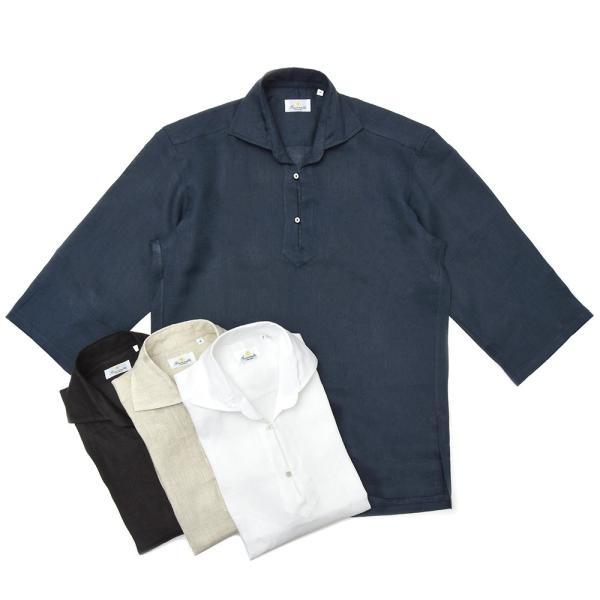 【SALE30】Giannetto(ジャンネット)リネンソリッドカプリシャツ AG833SUM84 11091012109 guji