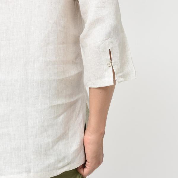 【SALE30】Giannetto(ジャンネット)リネンソリッドカプリシャツ AG833SUM84 11091012109 guji 12