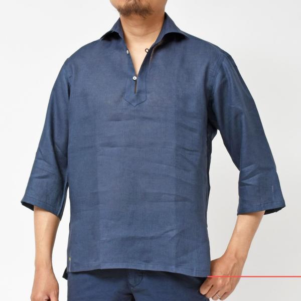 【SALE30】Giannetto(ジャンネット)リネンソリッドカプリシャツ AG833SUM84 11091012109 guji 14
