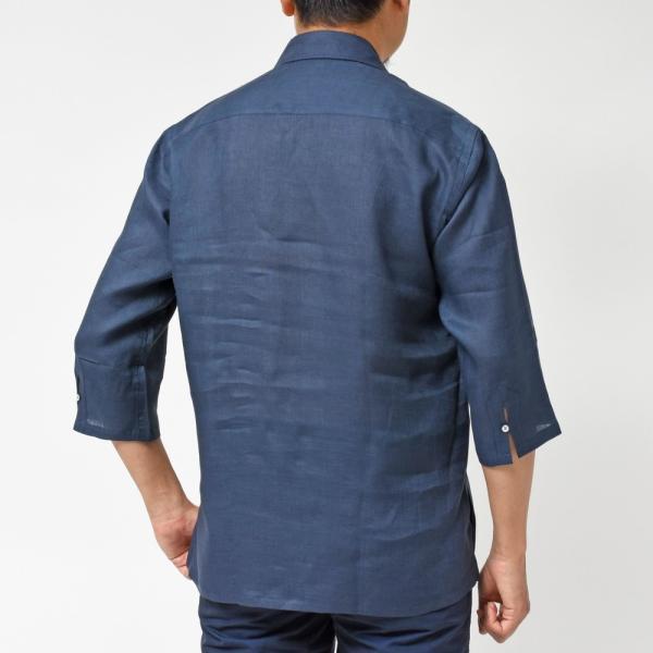 【SALE30】Giannetto(ジャンネット)リネンソリッドカプリシャツ AG833SUM84 11091012109 guji 15