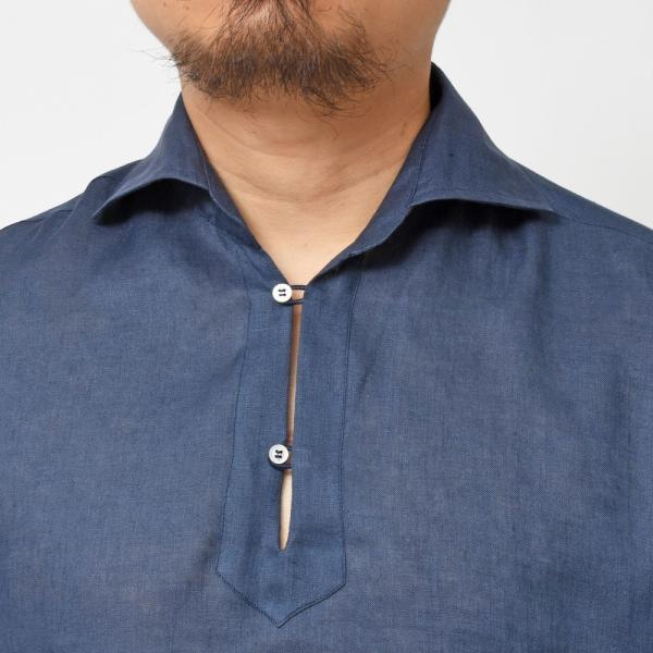 【SALE30】Giannetto(ジャンネット)リネンソリッドカプリシャツ AG833SUM84 11091012109 guji 16