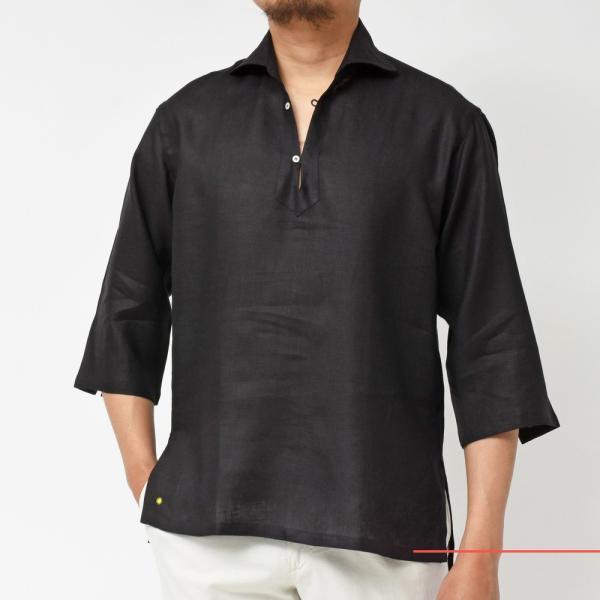 【SALE30】Giannetto(ジャンネット)リネンソリッドカプリシャツ AG833SUM84 11091012109 guji 20