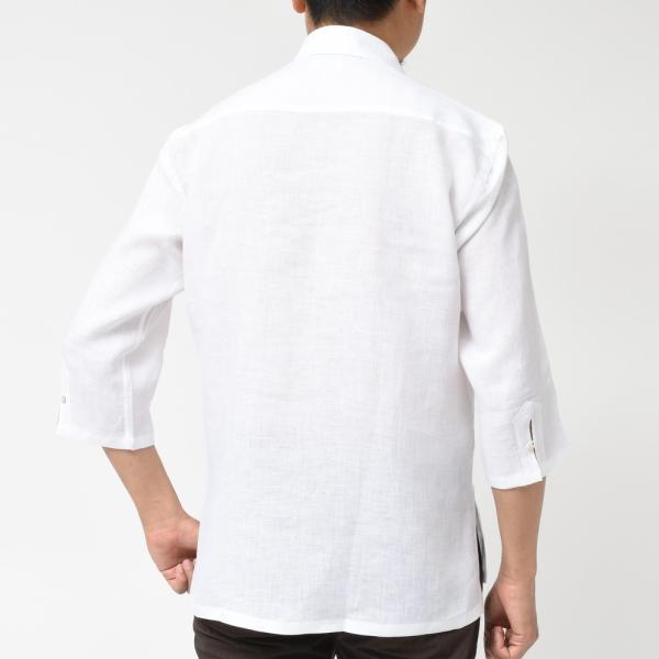 【SALE30】Giannetto(ジャンネット)リネンソリッドカプリシャツ AG833SUM84 11091012109 guji 03