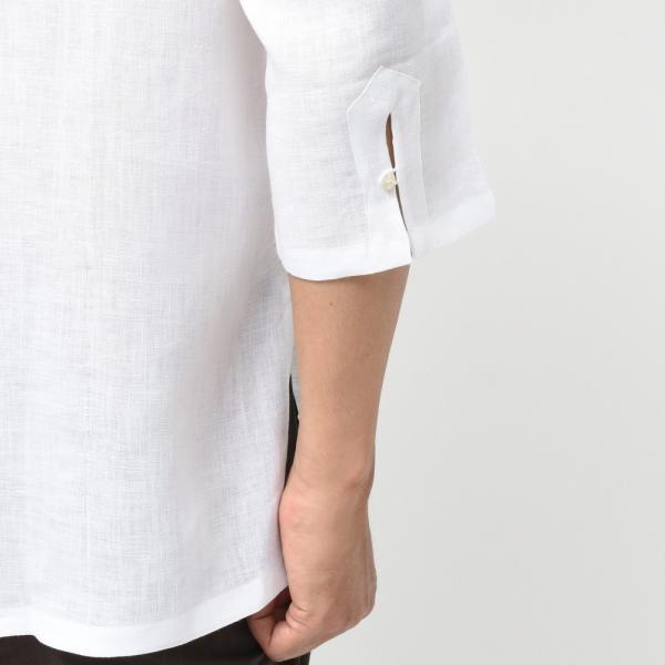 【SALE30】Giannetto(ジャンネット)リネンソリッドカプリシャツ AG833SUM84 11091012109 guji 06