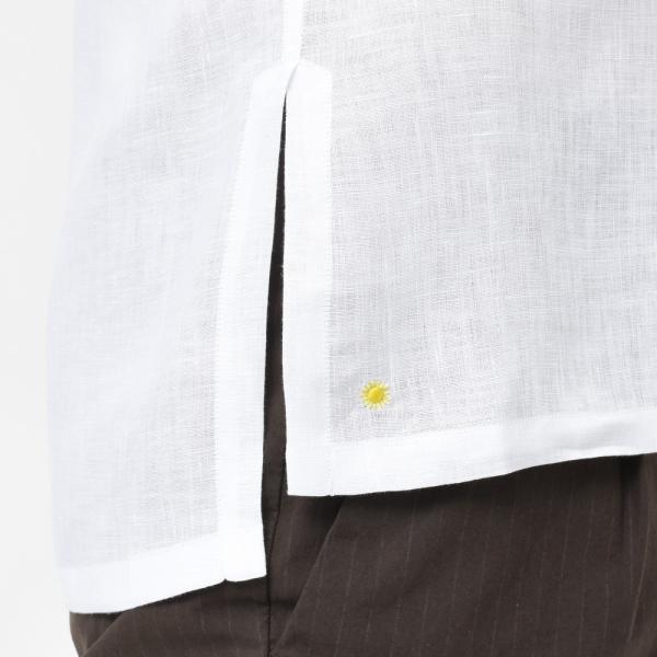 【SALE30】Giannetto(ジャンネット)リネンソリッドカプリシャツ AG833SUM84 11091012109 guji 07