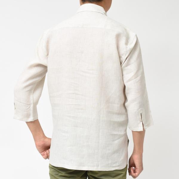【SALE30】Giannetto(ジャンネット)リネンソリッドカプリシャツ AG833SUM84 11091012109 guji 09