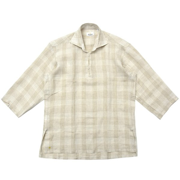 【SALE30】Giannetto(ジャンネット)リネングレンチェックカプリシャツ AG884SUM84 11091013109 guji