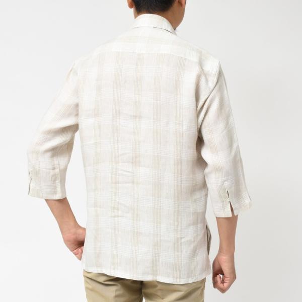 【SALE30】Giannetto(ジャンネット)リネングレンチェックカプリシャツ AG884SUM84 11091013109 guji 03