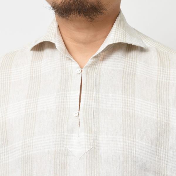 【SALE30】Giannetto(ジャンネット)リネングレンチェックカプリシャツ AG884SUM84 11091013109 guji 04