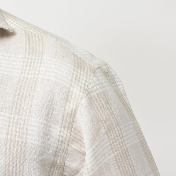【SALE30】Giannetto(ジャンネット)リネングレンチェックカプリシャツ AG884SUM84 11091013109 guji 05