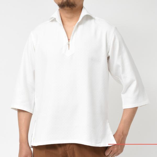 Giannetto(ジャンネット)コットンダイヤドビーカプリシャツ AG720SUM84 11091014109|guji|02