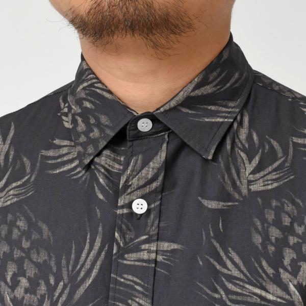 SeaGreen(シーグリーン)コットンボタニカルレギュラーカラーS/Sシャツ MSG19S765 11091400043|guji|14