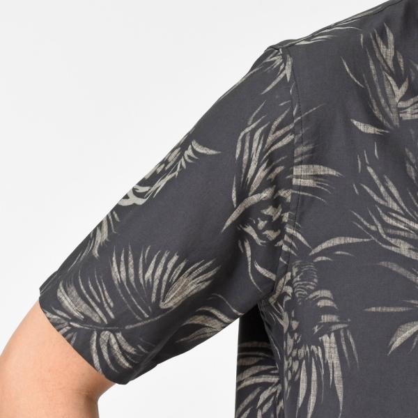 SeaGreen(シーグリーン)コットンボタニカルレギュラーカラーS/Sシャツ MSG19S765 11091400043|guji|15