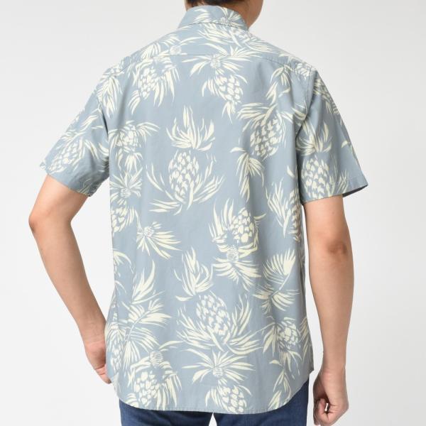 SeaGreen(シーグリーン)コットンボタニカルレギュラーカラーS/Sシャツ MSG19S765 11091400043|guji|03