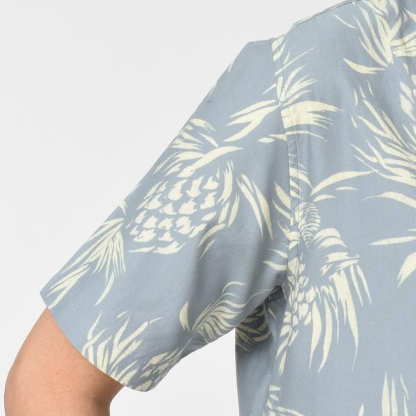 SeaGreen(シーグリーン)コットンボタニカルレギュラーカラーS/Sシャツ MSG19S765 11091400043|guji|05