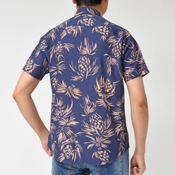 SeaGreen(シーグリーン)コットンボタニカルレギュラーカラーS/Sシャツ MSG19S765 11091400043|guji|08