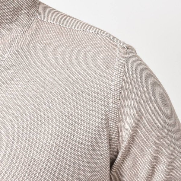 Bagutta(バグッタ)コットンダイアゴナルフランネルソリッドハイネックシャツ NECK GBL/09553 11092001054|guji|11
