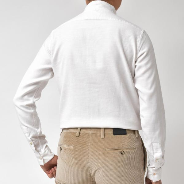 Bagutta(バグッタ)コットンダイアゴナルフランネルソリッドハイネックシャツ NECK GBL/09553 11092001054|guji|03