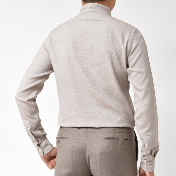 Bagutta(バグッタ)コットンダイアゴナルフランネルソリッドハイネックシャツ NECK GBL/09553 11092001054|guji|09