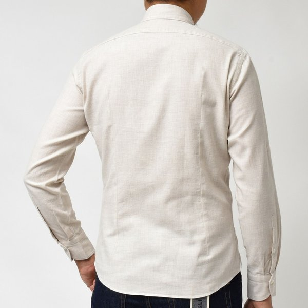 Giannetto(ジャンネット)コットンメランジライトネルセミワイドカラーシャツ VINCI FIT/92031520300V81 11096000109|guji|03