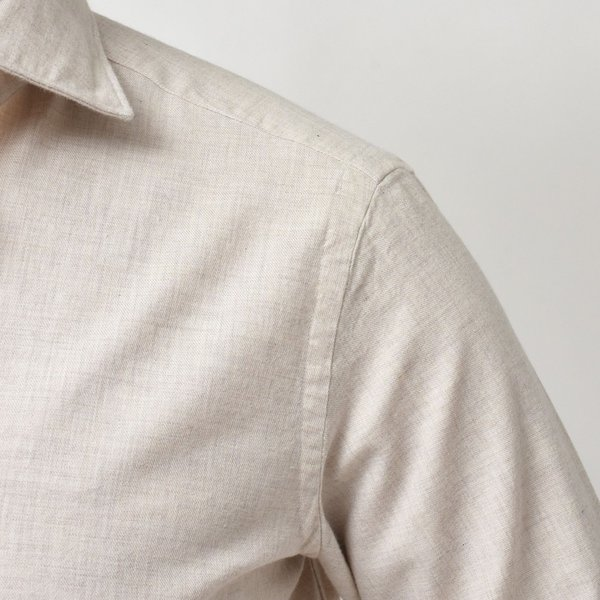 Giannetto(ジャンネット)コットンメランジライトネルセミワイドカラーシャツ VINCI FIT/92031520300V81 11096000109|guji|06