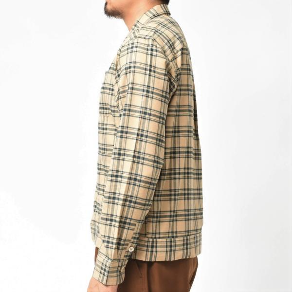 THE GIGI(ザ ジジ)BELL コットンネルタータンチェックオープンカラーシャツジャケット L900 11096400039|guji|04
