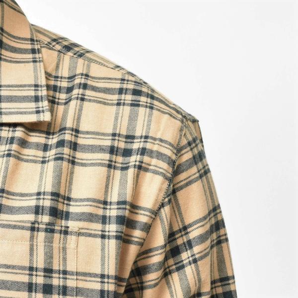 THE GIGI(ザ ジジ)BELL コットンネルタータンチェックオープンカラーシャツジャケット L900 11096400039|guji|05