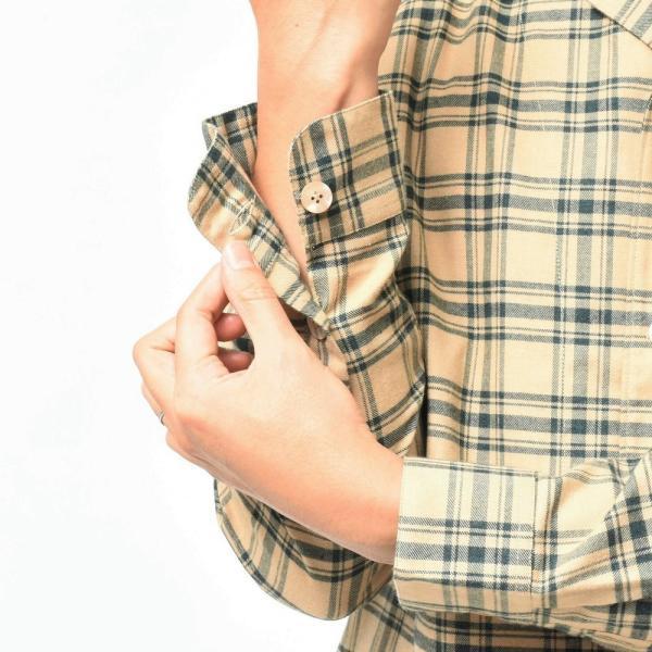 THE GIGI(ザ ジジ)BELL コットンネルタータンチェックオープンカラーシャツジャケット L900 11096400039|guji|06