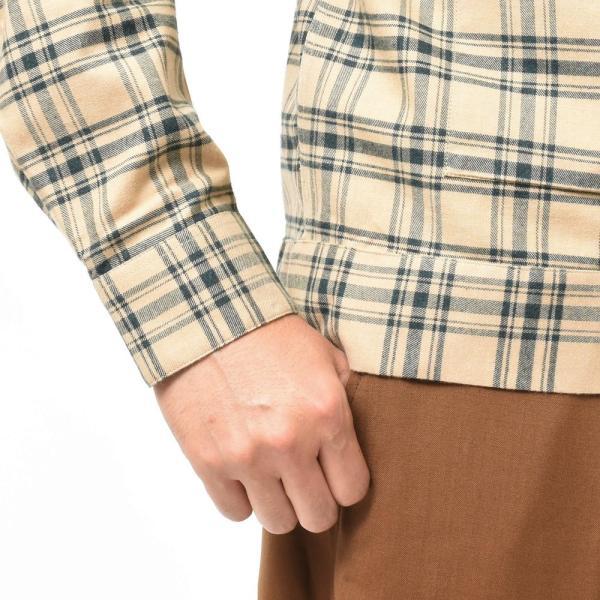 THE GIGI(ザ ジジ)BELL コットンネルタータンチェックオープンカラーシャツジャケット L900 11096400039|guji|07
