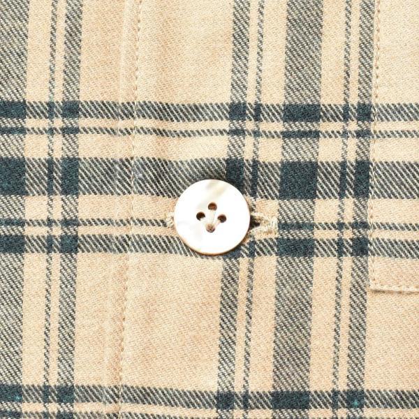 THE GIGI(ザ ジジ)BELL コットンネルタータンチェックオープンカラーシャツジャケット L900 11096400039|guji|08