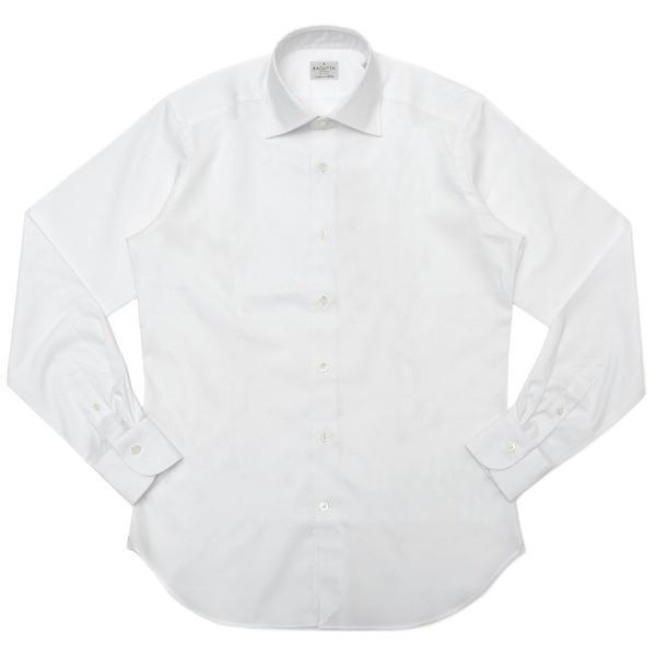 Bagutta(バグッタ)コットンピンオックスソリッドセミワイドカラーシャツ 389GL/CN3448 11191200054◆◆|guji