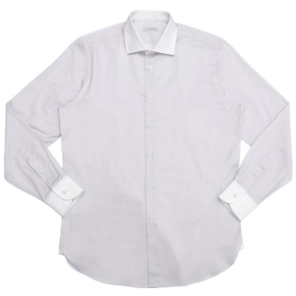 GUY ROVER(ギ ローバー)コットンツイルソリッドワイドカラークレリックシャツ W2530/582102 11191201027|guji