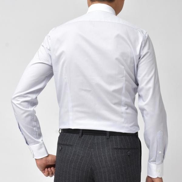 GUY ROVER(ギ ローバー)コットンツイルソリッドワイドカラークレリックシャツ W2530/582102 11191201027|guji|03