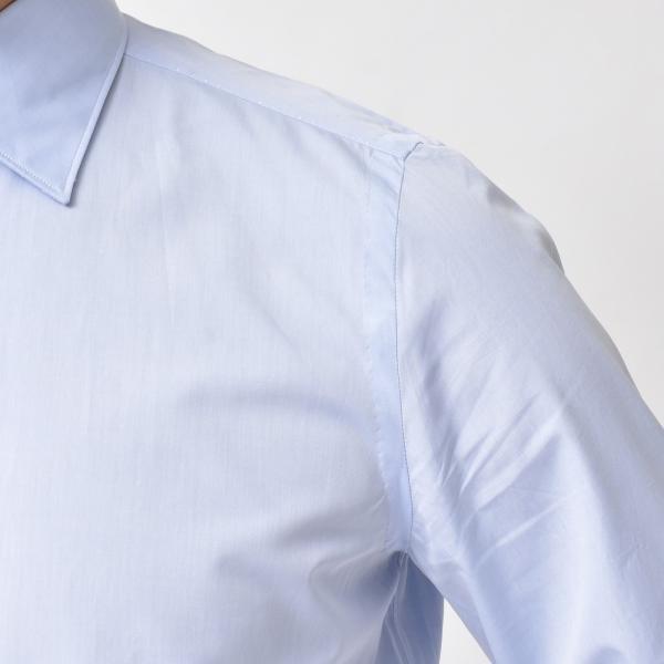 Finamore(フィナモレ)VITTORIOヴィットリオ/MILANOミラノ コットンブロードソリッドセミワイトカラーシャツ P9078 11191201039◇◇|guji|11