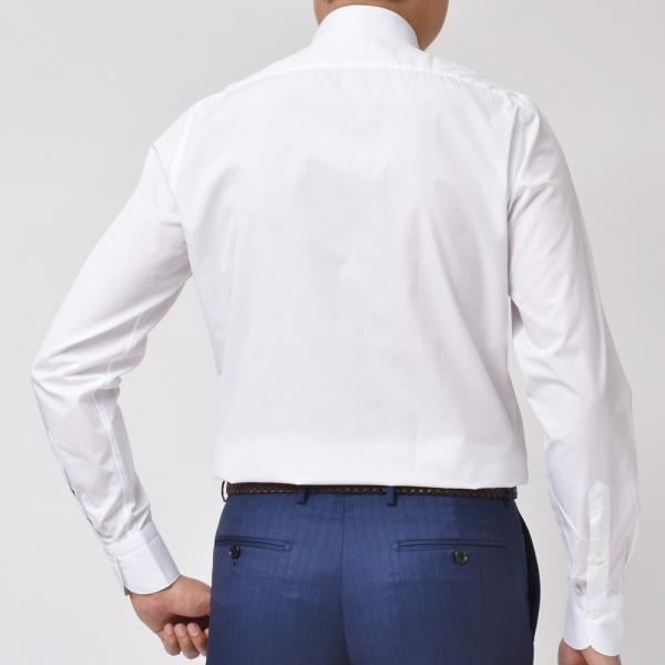 Finamore(フィナモレ)VITTORIOヴィットリオ/MILANOミラノ コットンブロードソリッドセミワイトカラーシャツ P9078 11191201039◇◇|guji|03