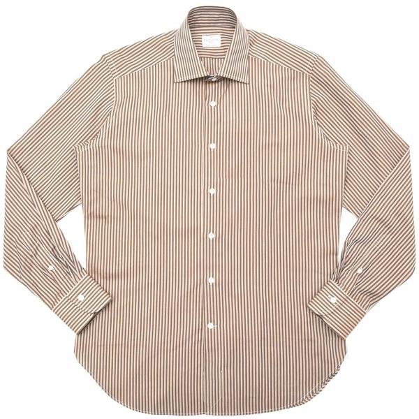 Bagutta(バグッタ)コットンリネンロンドンストライプセミワイドカラーシャツ 389GL/09072 11191201054|guji
