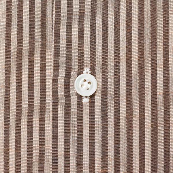 Bagutta(バグッタ)コットンリネンロンドンストライプセミワイドカラーシャツ 389GL/09072 11191201054|guji|07