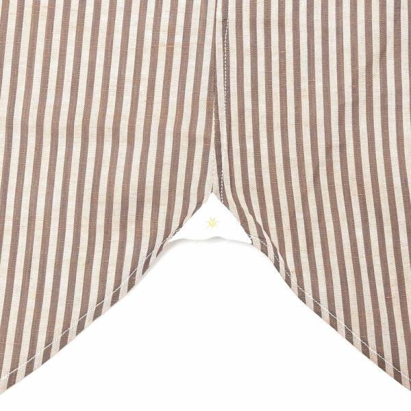 Bagutta(バグッタ)コットンリネンロンドンストライプセミワイドカラーシャツ 389GL/09072 11191201054|guji|08