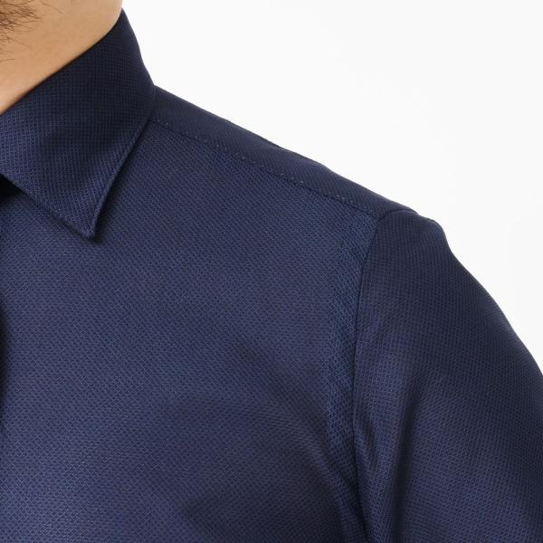 Finamore(フィナモレ)VITTORIOヴィットリオ/MILANOミラノ コットンメッシュソリッドセミワイドカラーシャツ P9176 11191204039|guji|05
