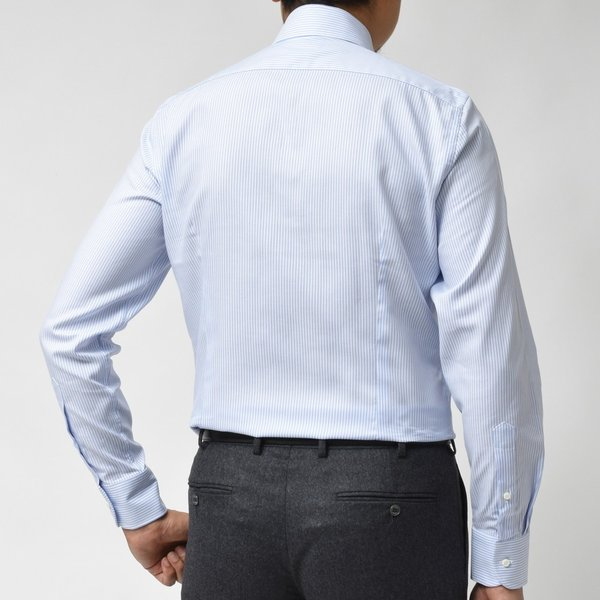 GUY ROVER(ギ ローバー)コットンピンオックスロンドンストライプタブカラーシャツ W2800/592205 11192202027 guji 03