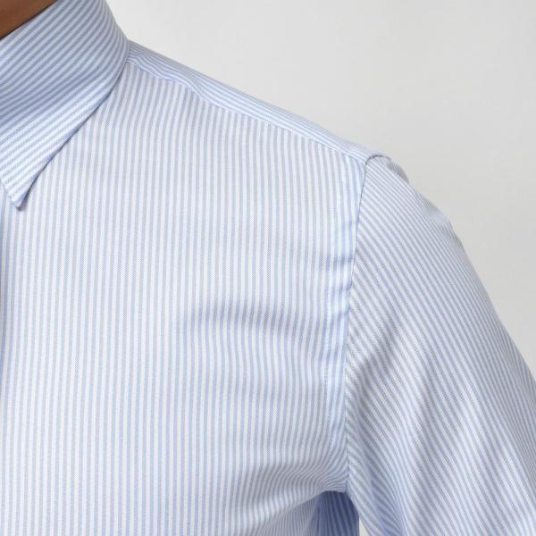 GUY ROVER(ギ ローバー)コットンピンオックスロンドンストライプタブカラーシャツ W2800/592205 11192202027 guji 05