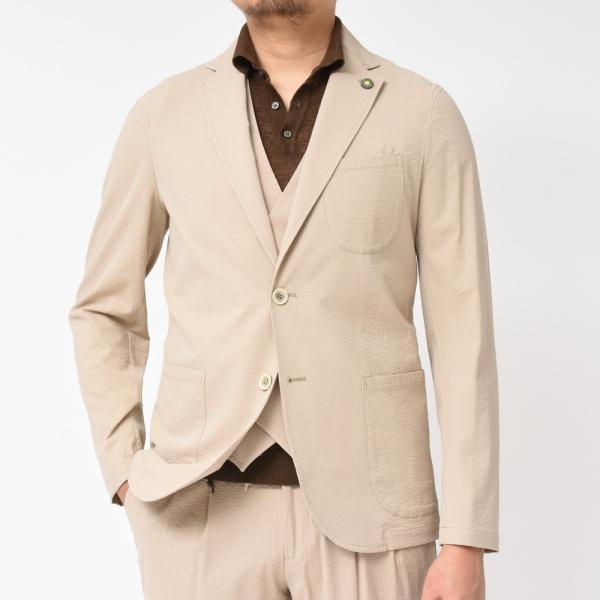 Giannetto(ジャンネット)コットンシアサッカー2Bシャツジャケット AG280JK 17091000109|guji|03