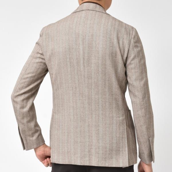 LARDINI(ラルディーニ)EASYイージー コットンウールポリジャガードシャドーストライプ3Bジャケット JP903AQ/EGA52523 17091002022|guji|04