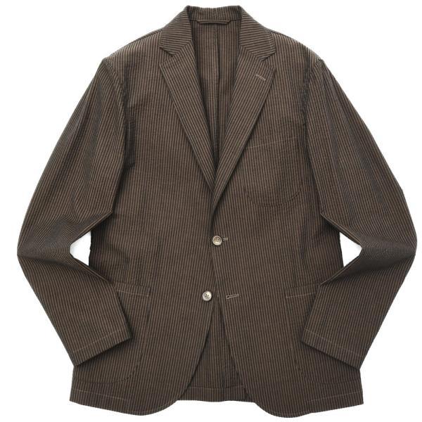 【SALE30】Giannetto(ジャンネット)コットンシアサッカーストライプ2Bシャツジャケット AG297JK 17091002109 guji