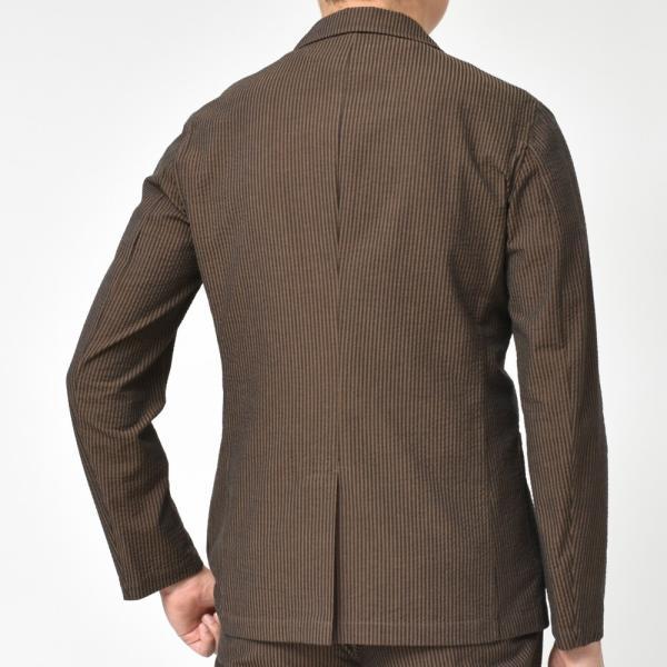 【SALE30】Giannetto(ジャンネット)コットンシアサッカーストライプ2Bシャツジャケット AG297JK 17091002109 guji 04