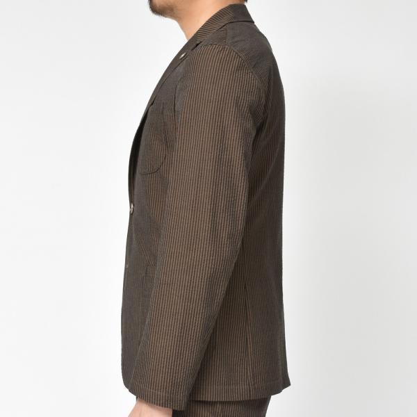 【SALE30】Giannetto(ジャンネット)コットンシアサッカーストライプ2Bシャツジャケット AG297JK 17091002109 guji 05